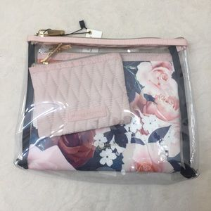 •Taylor Brooke• Clear & Floral Cosmetic Case Set